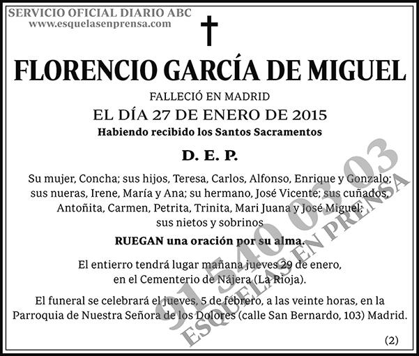 Florencio García de Miguel